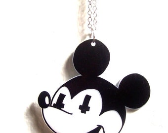 Mickey Mouse Death Cult Necklace