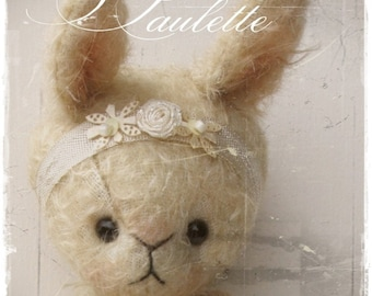 Bunny pattern Paulette 7.75 inch epattern bear artist bear teddy digital  Instant Download stuffed animals