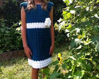 Crochet Pattern, Emerald City Childrens Dress