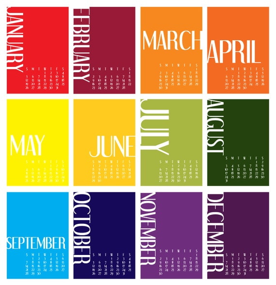 Typography Desk Calendar : Typography desk calendar fonts by