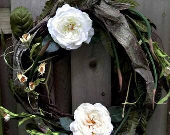 All-season wreath, Snow White's cottage wreath, Who's the Fairest of Them All, summer wreath, fairy tale, Enchanted wreath