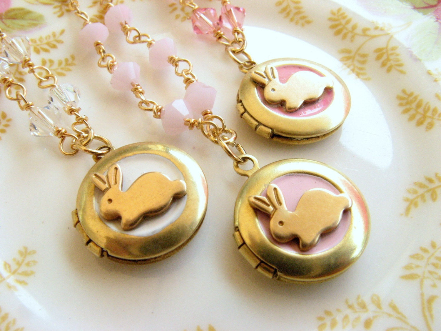Bunny locket necklace Little Girl necklace jewelry