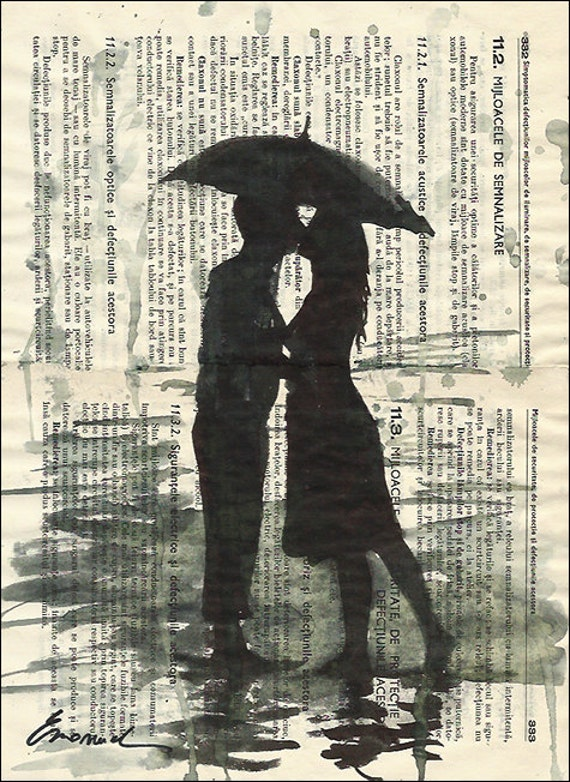 Print Art Ink Drawing canvas Sketch Poster Gift Love Couple