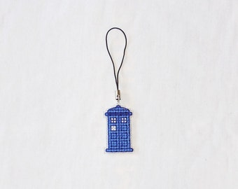 Doctor Who phone charm - TARDIS