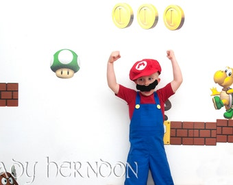 My Arcade: Mario Costume for Sizes 2T, 3T, 4T, 5, 6, 7, 8 and 10