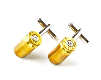 Bullet Shell Cufflinks - Wedding Gift - Handmade - Gift Box Included