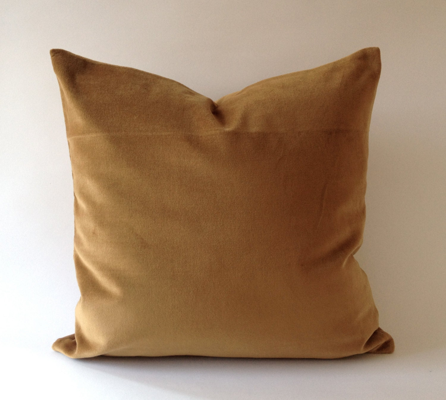 Decorative Pillow Brown : Camel Brown Cotton Velvet Pillow Cover Decorative Accent