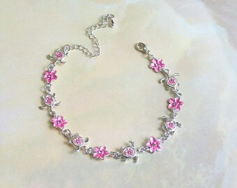 Pink Hawaiian Anklet