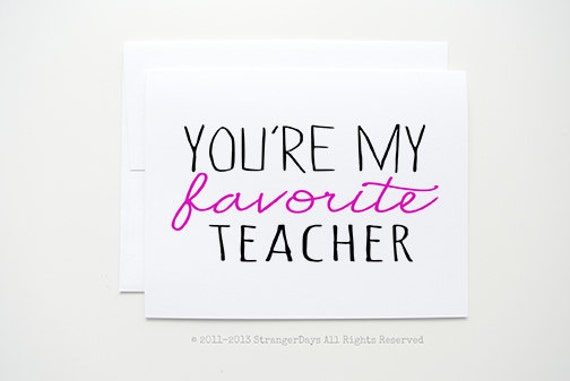 """my favorite teacher in history These teacher thank you notes will make you break out the tissues (and laugh a  little)  of the blue: """"you were my inspiration to becoming a history teacher""""   one of ryan green's favorite teacher thank-you notes came with."""