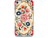 Floral iPhone Case, Vintage Tea Tin,   iPhone 6 iPhone 5 4 4s Case, Cell Phone Case, Vintage Tin Floral Flowers iPhone Cover