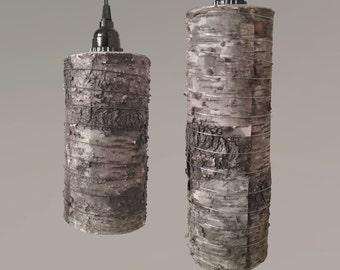 Birch Wood Hanging Pendant Lamp (Plug-in Cord)