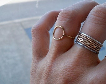 14k Yellow Gold Fill Karma Ring, Eternity Ring, Infinity Ring, Stacking Ring - custom made to order