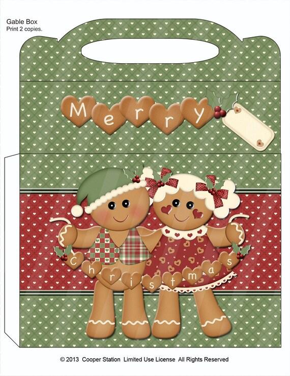 Printable Christmas Gable Box