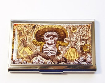 Day of the Dead case, Business Card Case, Card case, business card holder, Day of the Dead, Skull, Skeleton (2920)