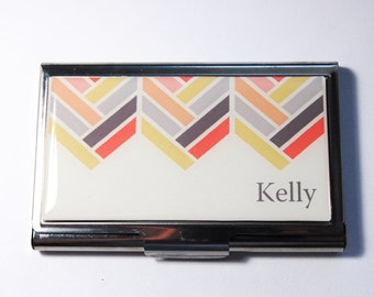 Personalized Business Card Case, Chevron, Custom Case, Personalized, card case, business card holder, Chevron case (3022)