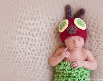 Caterpillar Set, Newborn Photo Prop, Baby Costume, Newborn Photography Prop Set, Newborn Cocoon, Newborn Caterpillar, Newborn Costume, Knit
