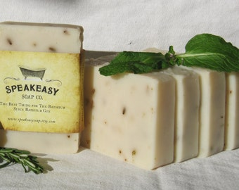 Rosemary & Mint Speakeasy Soap, mint, rosemary, lime, vegan handmade