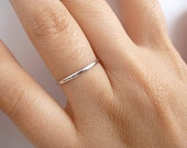 Stacking Ring Sterling Silver - Thin 1.5mm Ring - Custom Size - Slim Band Stack Ring - Stackable Ring
