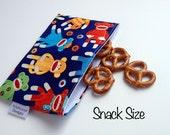 Sock Monkey Eco-Friendly Reusable Snack & Sandwich Bag