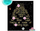 Cross Stitch Pattern - Malcolm Tucker on Star Wars - The Thick of It. MATURE. Digital Download PDF.