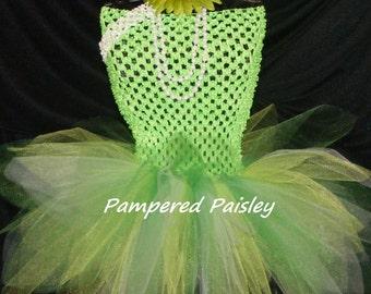 Tinkerbell costume, Tinker bell costume, Fairy Tutu Dress, Lime Green Tutu, Tinkerbell tutu, Tinkerbell birthday, Fairy Costume