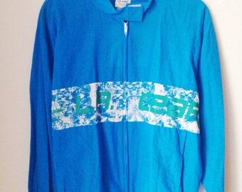 Deadstock LA Gear Track Jacket Blue Size Small/Medium