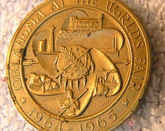 Oklahoma at the World's Fair coin.