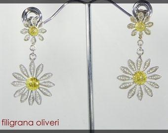 Earrings Double Margaret Silver filigree