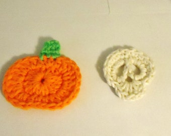 30 Piece Set of Skull or Pumpkin Appliques/Candy Favors