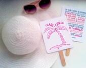 Palm Tree | Beach | Destination | Tropical Wedding Ceremony Program Fan - Fully Customizable Wording & Ready-to-DIY Kit (QTY 30+)