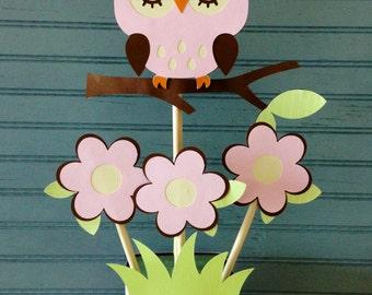Owl Baby Shower Centerpiece