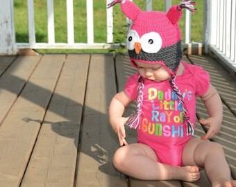 Girl Owl Hat, Baby, Owl Hat, Kids Owl Hat, Newborn Photo Prop, Newborn Owl Hat, Crochet Owl Hat