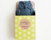 Charcoal & Tea Tree Owl Soap - Natural, Handmade, Cold Processed, Vegan.