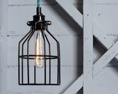 Industrial Lighting - Wire Cage Light Pendant