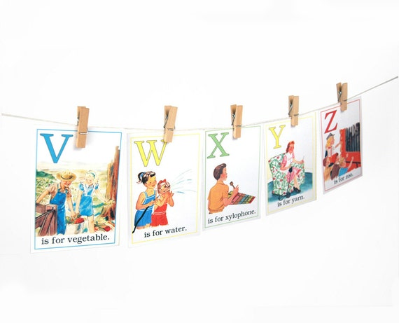 """Digital ABC flashcards / alphabet flash cards/ 5"""" by 7"""" / downloadable / printable"""