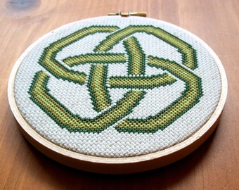 St. Patrick's Day, Celtic Knot, Shamrock, Four Leaf Clover, Cross Stitch Pattern, Digital Download PDF
