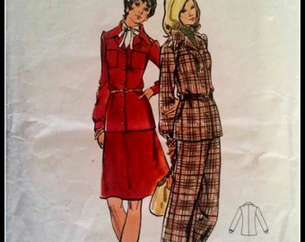 Butterick 3227  Misses' Half Size Jacket, Skirt And Pants  Size 14 1/2