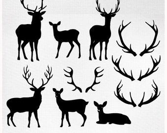 Deer clipart | Etsy