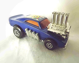 Vintage MATCHBOX Lesney Series 'Superfast' Pi-Eyed Piper Royal Blue Car Collectible Car Collectible Hot Rod Toy Race Car Visible Engine