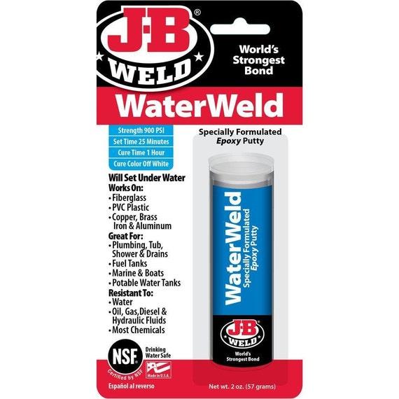 Water Resistant Epoxy : J b weld waterweld epoxy putty stick repair underwater