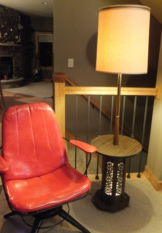 60 3 way table lampfloor lamplamp shademid century. Black Bedroom Furniture Sets. Home Design Ideas