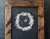Rustic Dark Brown Distressed Chalkboard