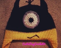 Crochet Batman Hat, Minion Hat, Batman Minion Hat