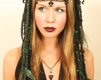 Black and Green Wicked Headdress