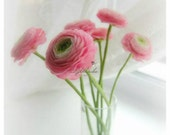 Pink handsculpted of ranunculus (set 7) - Floral Style - Pink bouquet - Home decor - Unusual flowers