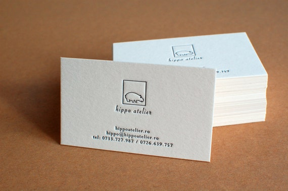 250 custom letterpress business cards like this item reheart Images
