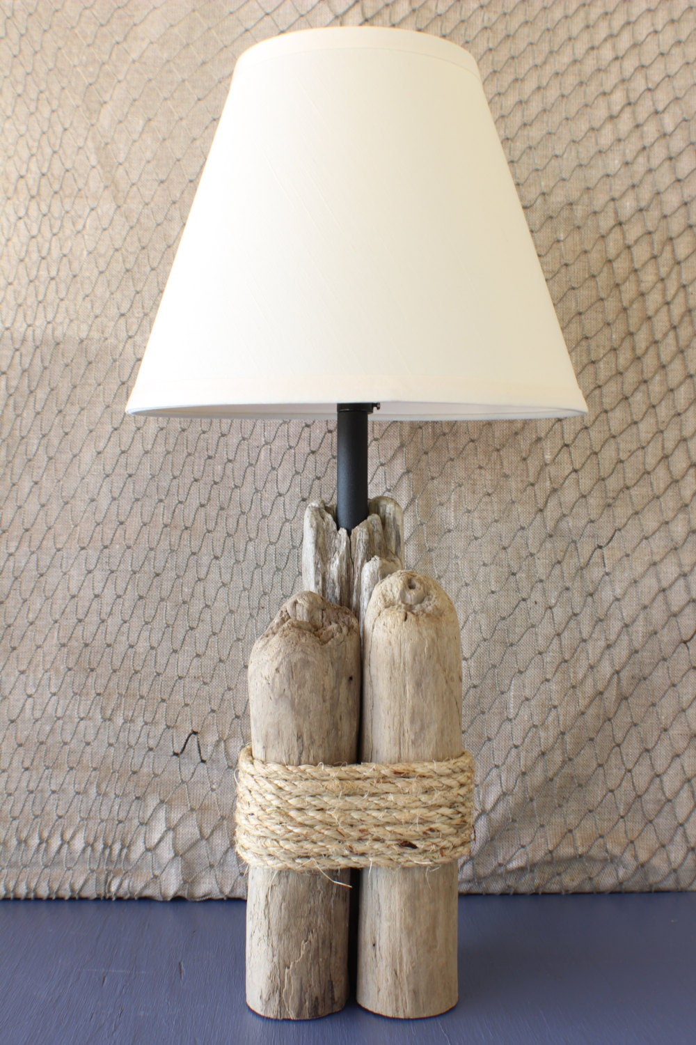 Driftwood Table Lamp Nautical Table Lamp Natural Lamp