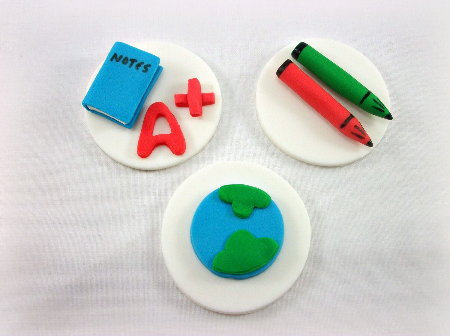 Edible Image Toppers Reviews : School Fondant Cupcake Edible Toppers Teacher Gift by ...