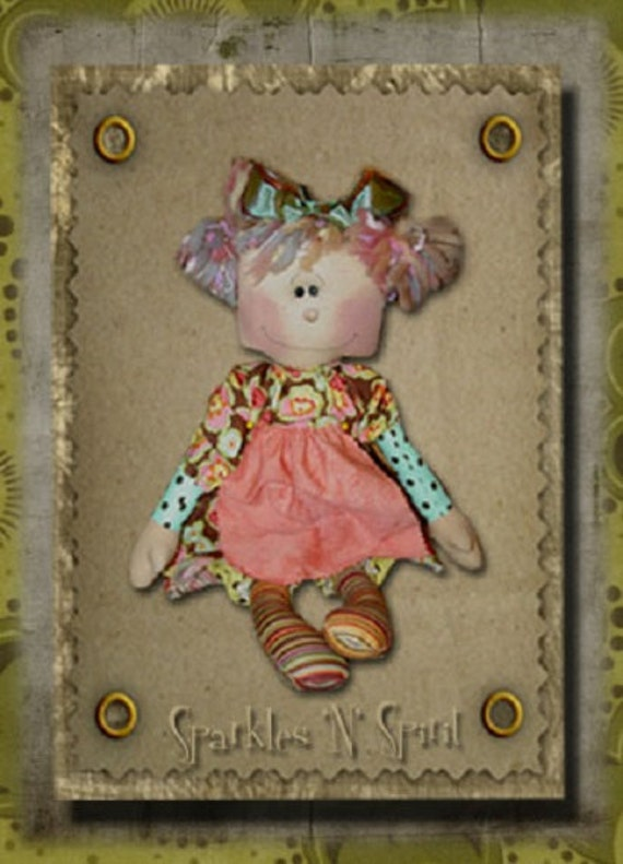 "Pattern: Lucy - 16"" Retro Raggedy Doll"