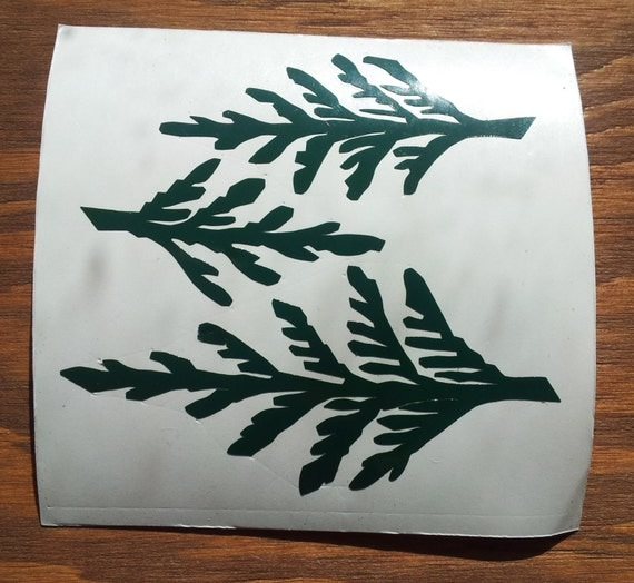 Cedar Forest CNC Cut Vinyl Stickers/Decals
